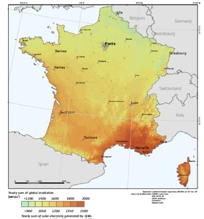 Pvgis irradiation solaire photovoltaique