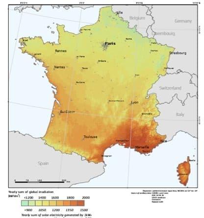 Pvgis irradiation solaire photovoltaique